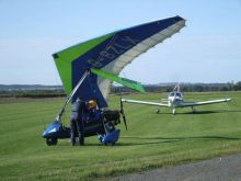 Pegasus Quantum 15-912 Flexwing microlight at Eshott