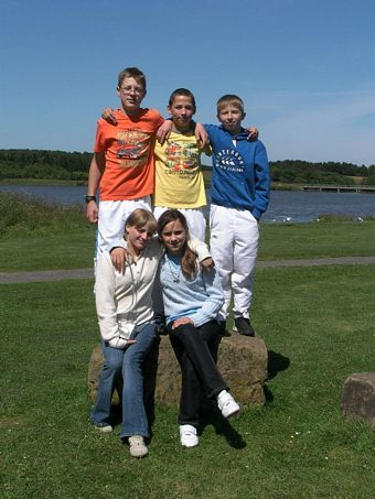 Chernobyl Orphan Group children at Druridge Bay